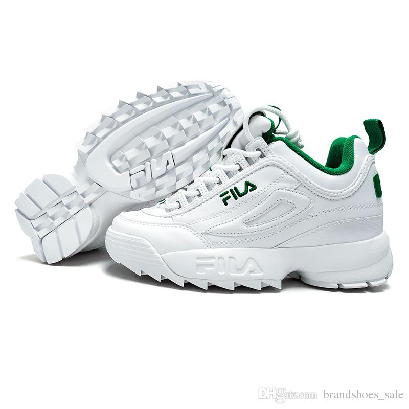 FILA Disruptors II 2 New Men And Women Running Shoes Female Sports White  Green Shoes Damping Summer Outdoor Footwear Discount Sale Black Running  Shoes ... ff093342d2