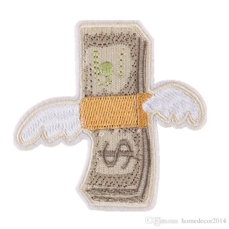 Acquista Soldi Con Le Ali Dollari Patch Ricamate Ferro Da Stiro Sul  Distintivo Creativo Borsa Jeans Cappello T Shirt Decorazione Appliques Fai  Da Te A  0.48 ... b880f633a710