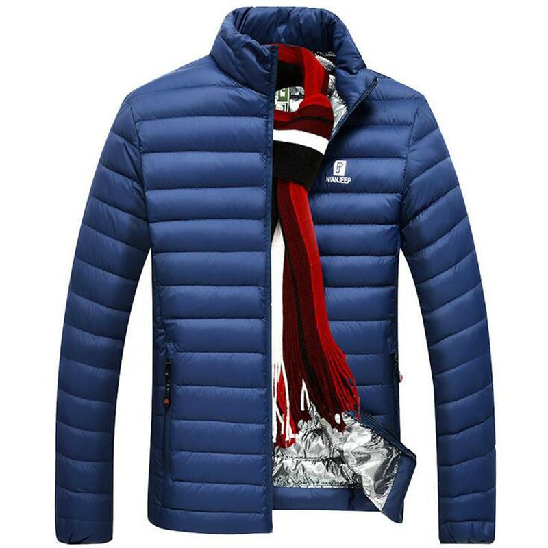 Jacke Daunenmantel Puffer Herren Männlichen Stehkragen Ultraleichten Winter Weiße Gans Ultraleicht Daunenjacken Marke Mode Warm S1031 Flak ARj435L