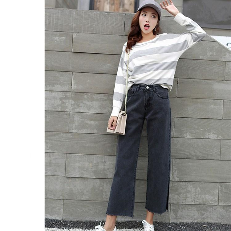 2019 2018 Korean Style Empire Women Casual Jeans Autumn New Loose