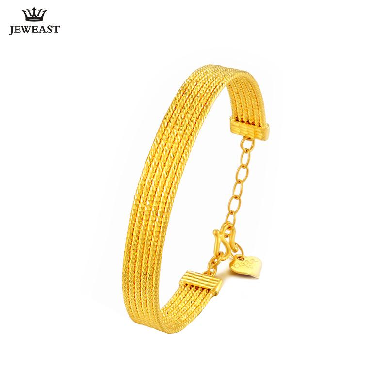 55ed9a47938 2019 24K Pure Gold Bracelet Real 999 Solid Gold Bangle Simple Fashion  Refinement Beautiful Lines Classic Jewelry Hot Sell New 2018 From  Qiugaoliang, ...