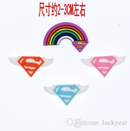 2019 Wholesale New Cartoon Superman Wings Soft Decoration Charms