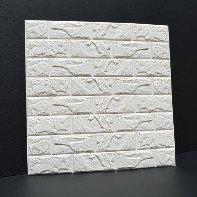 Embossed Brick Stone Wall Self-Adhesive 3D Wall Stickers Living Room Bedroom Creative Brick Pattern Foam Wallpaper Stickers