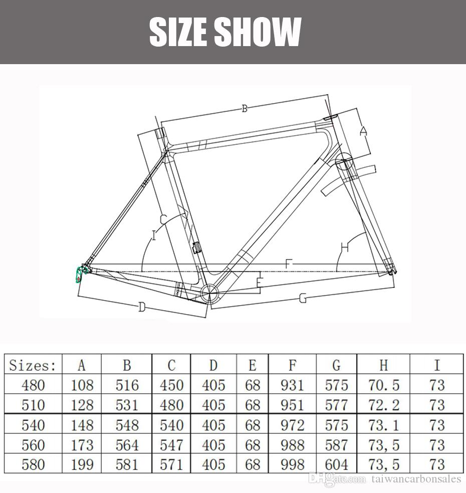 2018 TOP NEW T800 UD Di2 and mechanical lighter carbon road frame bike cycling bicycle racing frame Buyers Bear The Charges