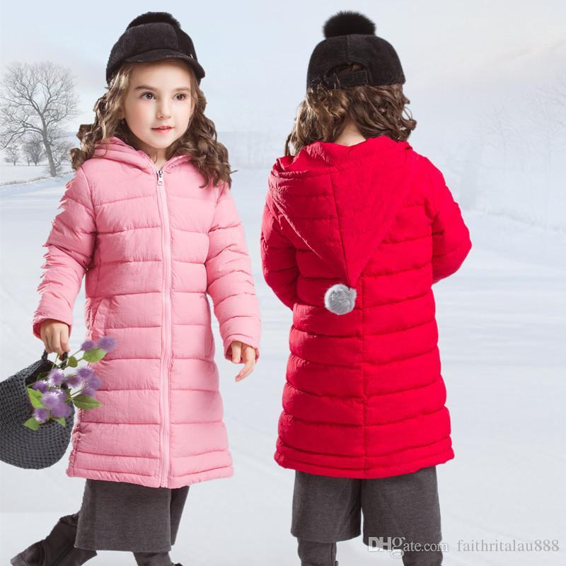 51dc6e38354b Children Clothes Winter Long Down Jackets Girls Cotton Padded Coats ...