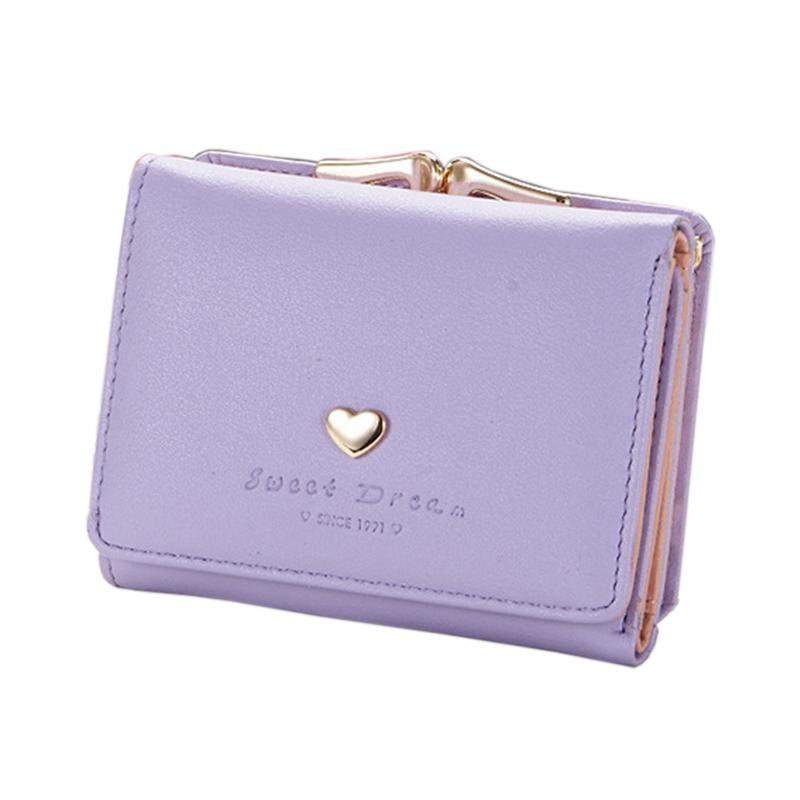 d1345be37991 Women Wallet Card Holder Leather Bag Small Coins Purse Love Letter ...