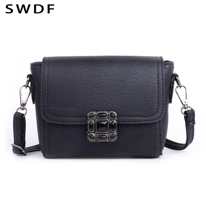 2eb3fc2e8b SWDF Famous Brand Design Small Square Flap Bag Mini Women Messenger  Crossbody Bags Sling Shoulder Leather Handbags Purses Bolsa Clutch Bags  Hobo Bags From ...