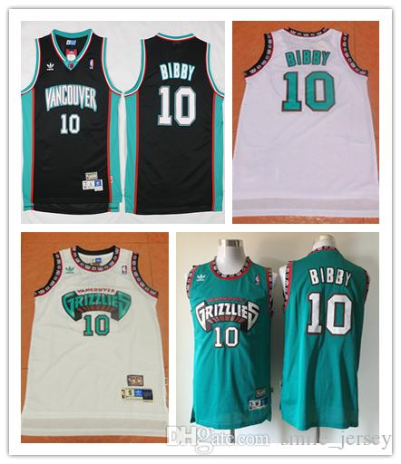 2018 Retro Mens 10 Mike Bibby Memphis Jersey Grizzlies Basketball Jerseys  Authentic Stitched Vancouver Mike Bibby Retro Basketball Jersey From ... 7b599be71