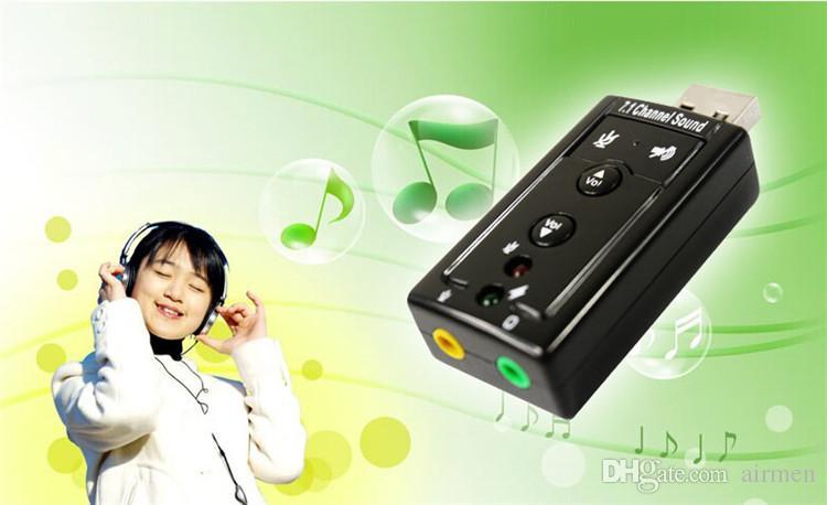 Alta calidad JP209-B CM108 Mini USB 2.0 3D externo 7.1 canal de sonido Virtual 12Mbps adaptador de tarjeta de sonido de audio
