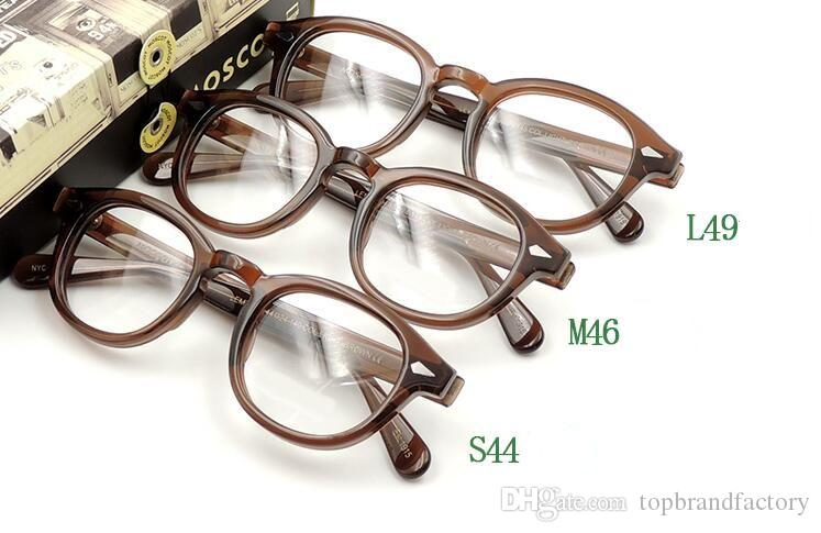 60b5ee682c6 2019 Moscot 1915 Brown Frame Brand Designer 44 46 49mm Lemtosh Johnny Depp  Glasses AAAAA+ Quality Round Polarized Sun Glasses With Box From  Topbrandfactory