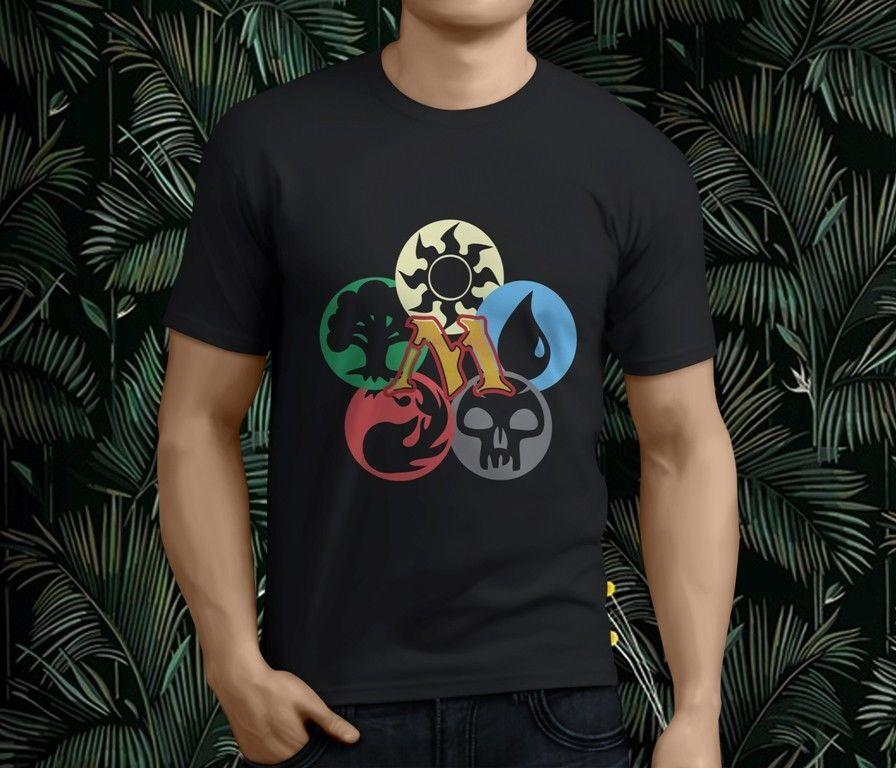 f72359a7 New Cool MAGIC THE GATHERING MTG Cards Men's Black Funny Tee Shirts Hipster  O-Neck Cool Tops Hip Hop Short Sleeve