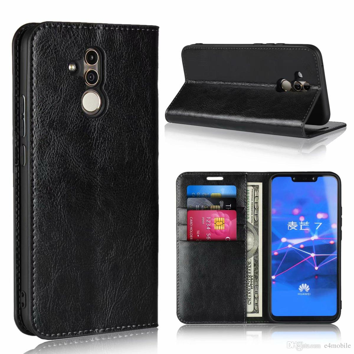 hot sale online 2a5bd adcfe Second Layer Genuine Cow Leather Stands Phone Case For Huawei Honor Note  10,Honor 8X,Honor Play,P Smart (nova 3i),Mate 20 Lite,Oneplus 6
