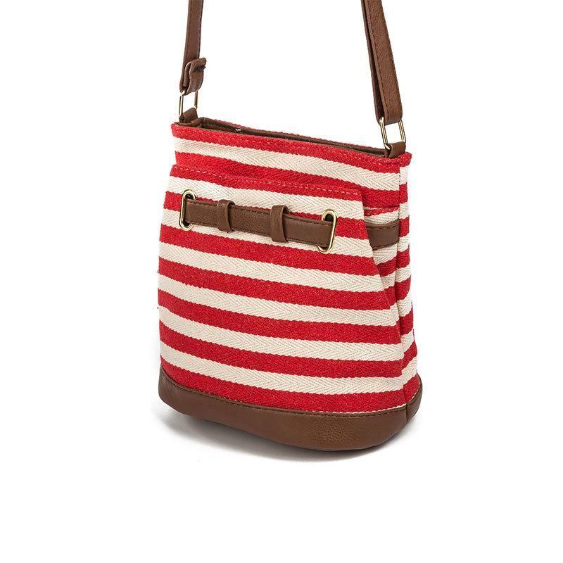 116f69c589 Striped Design Women Bag Canvas Women Messenger Bags Fashion Crossbody  Shoulder Bag Female Bucket Bags Girls Handbag Leather Handbag Red Handbags  From ...