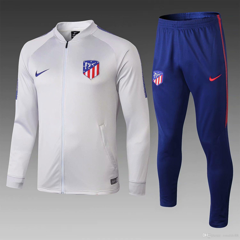 5b30bf5e7e14b Compre AAA + Nuevo 18 19 Temporada Chaqueta Atlético De Madrid Costa 2018  2019 Hogar Chándales Camiseta De Fútbol Traje De Entrenamiento De Griezmann  Envío ...