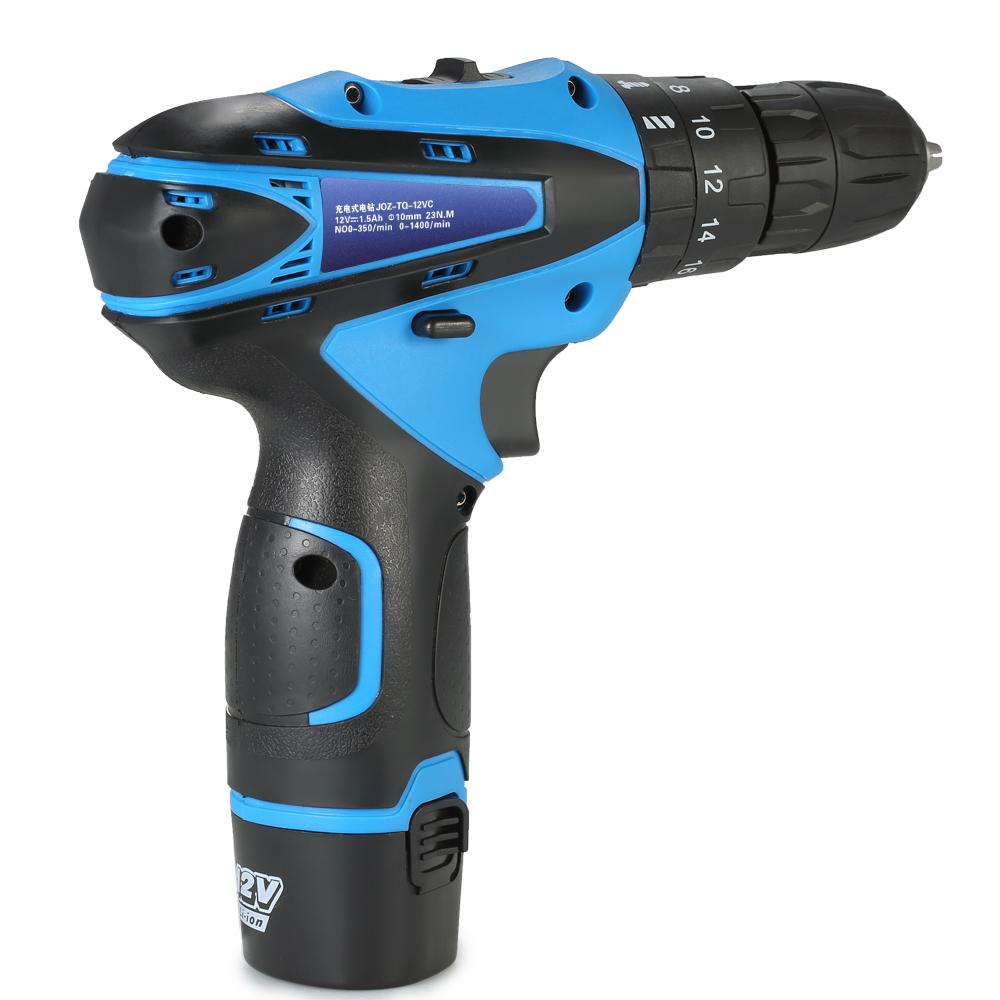 12V Lithium-Ion Electric dremel drill Two-speed rotary tool Power tools Electric drill Rechargeable Cordless Screwdriver Drill