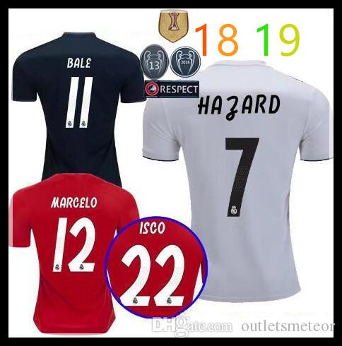 e1257896e 2019 2018 19 Real Madrid Soccer Jersey Football Shirt Modric Kroos Bale  Marcelo 18 19 Champions League Patches Real Madrid Home Away Third Shirts  From ...