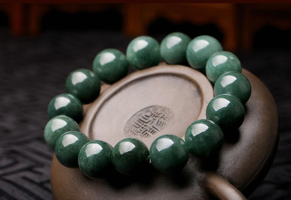 15mm Perfect Chinese 100% A Grade Natural stone/ stoneite Bean  Bracelet