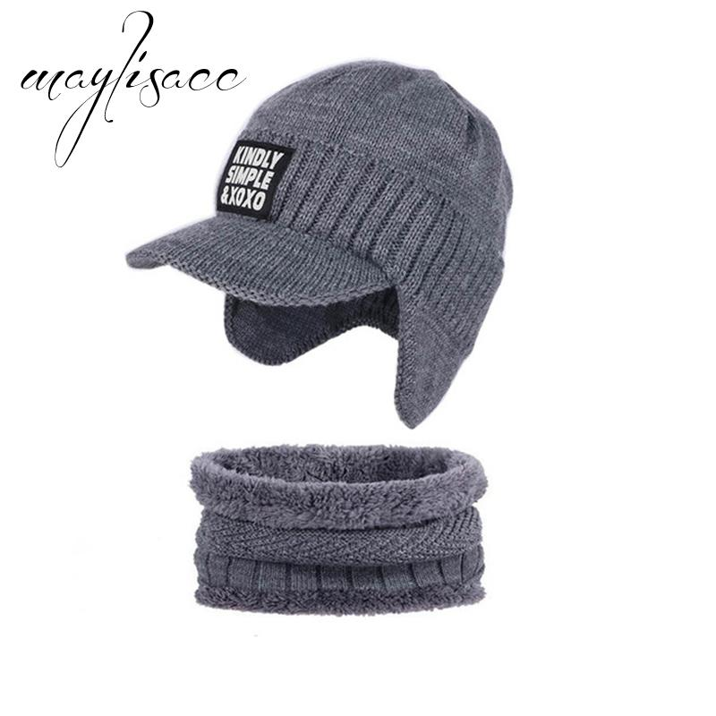 c9cafc67bbd 2019 Maylisacc Men S Winter Warm Knitted Hat With Scarf Ring Thick Ear  Protecting For Men Women Outdoor Sport Scarves With Hat Set From Exyingtao