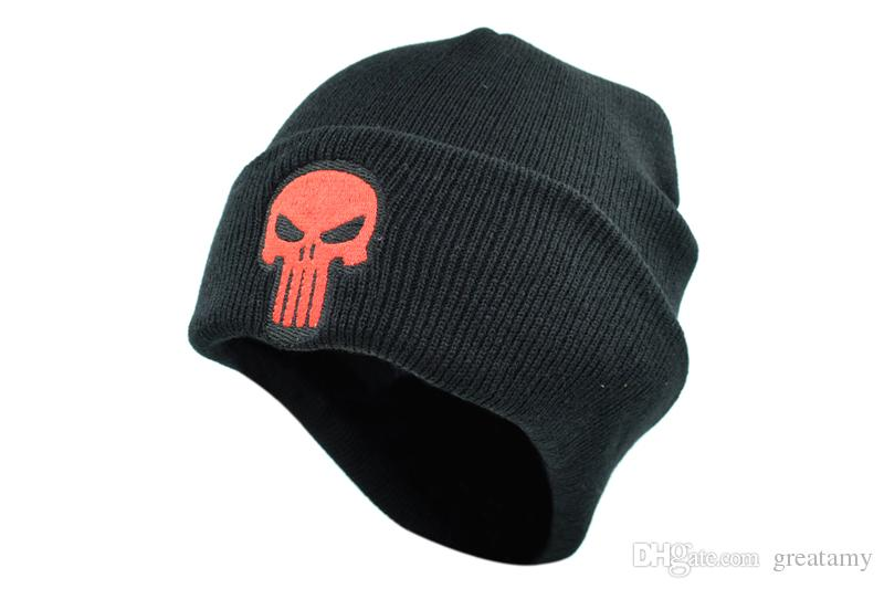 2019 Men Women Beanie Man Winter Hat For Punisher Cap Beanie Skulls  Skeleton Black Knitted Caps Adult Men Boys Fashion Accessories From  Greatamy f64d89dd565