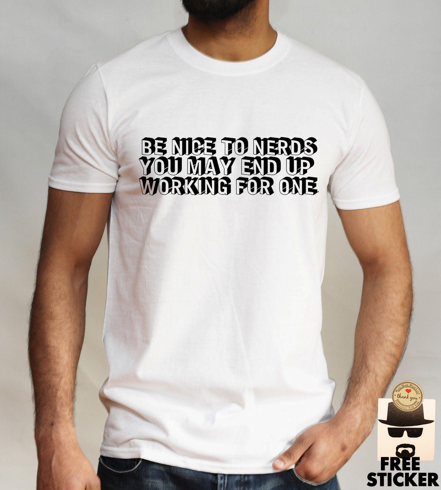 96f9bbfed Nerd Boss T Shirt Funny Quotation Tee Cool Business, Fashion Wear Gift,  Mens Top Really Funny Shirts Clothes T Shirt From Directwallartuk, $11.68|  DHgate.