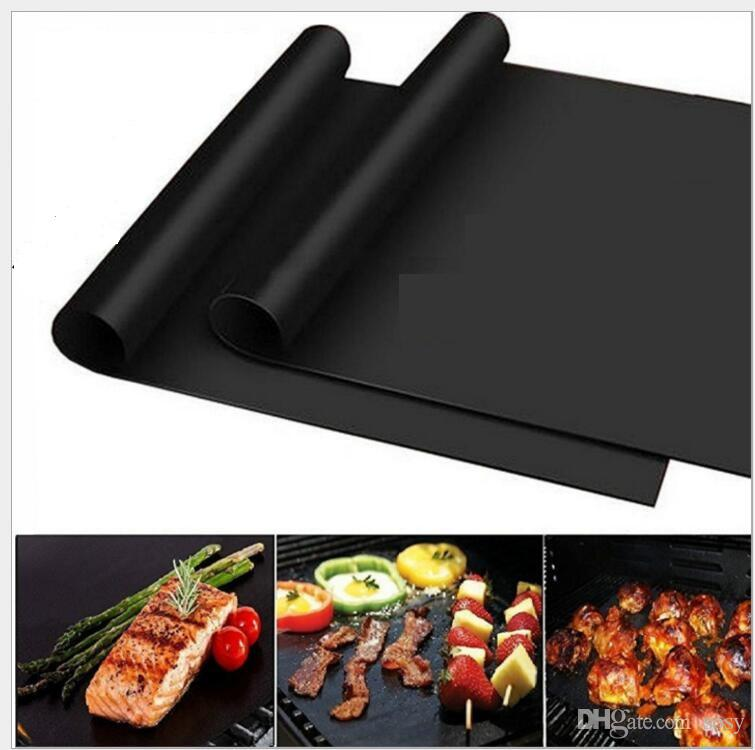 non-stick reusable Teflon BBQ Grill mat extra thick thermostability grilling sheet FDA teflon baking mat BBQ tool