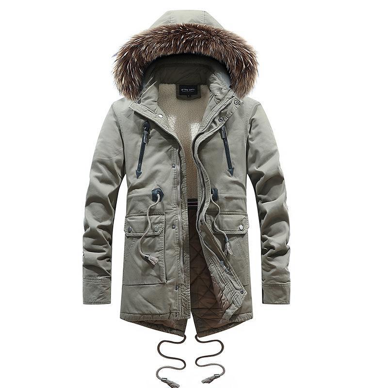 grosshandel 2018 neue mode parkas fur manner stil mens wintermantel lange stil und unten baumwolle kleidung authentische qualitat im freien winterjacke von