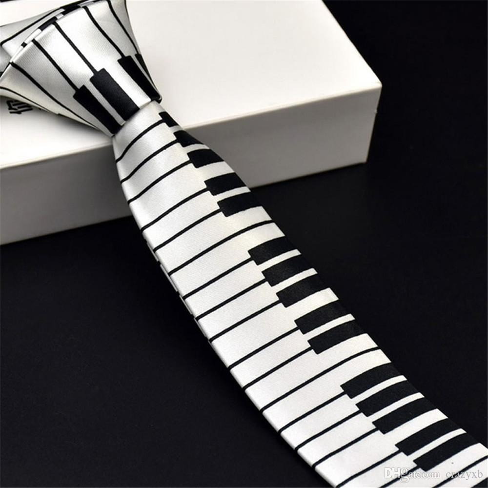 1 pc Unique Design Men s Musical Necktie with Wide Piano Keyboard Classic  Slim Music Skinny Tie cravate pour homme