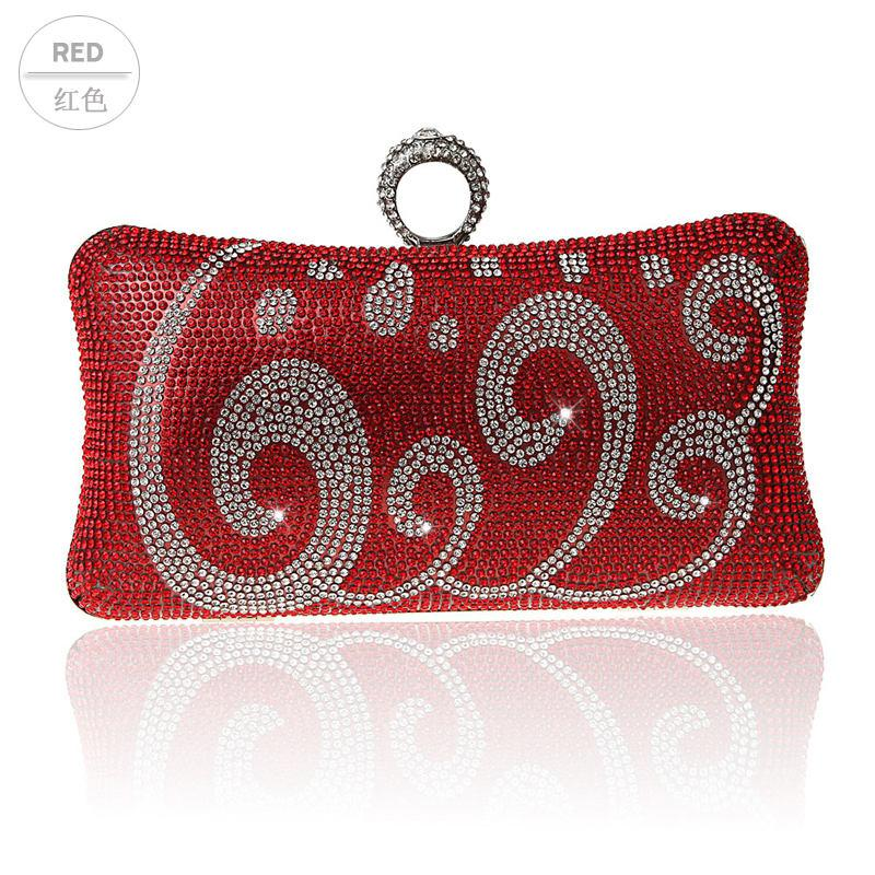 2016 Top Selling Red Evening Bag Women s Zircon Banquet Handbag Clutch  Birthday Gift Party Purse Makeup Bag Mujer Bolso 03993 19 Handbags Sale Big  Handbags ... 9e408608bf