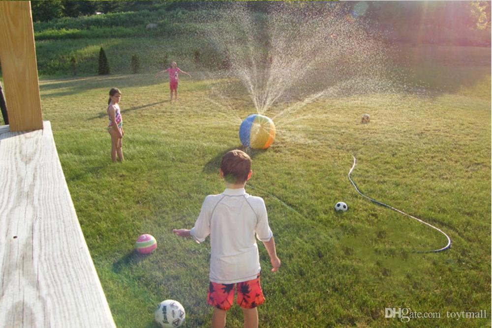 75cm Multicolor Children Water Ball Outdoor Inflated Toy For Baby Kids Giant Sprinkler Inflatable Beach Ball Family Play Fun PVC gift