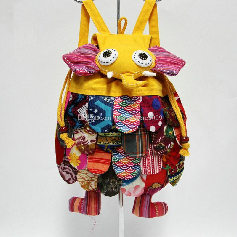 2018 New Kids Bag Backpack Fashion Elephant Style Baby Kids School Bags China's National Characteristics Kids Shoulders Bag