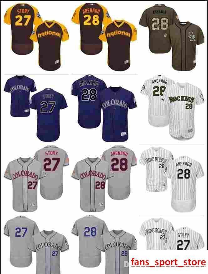 new styles 5dbd8 95854 2019 custom Men s Women Youth Majestic COL Rockies Jersey #27 Trevor Story  28 Nolan Arenado Home Purple Baseball Jerseys