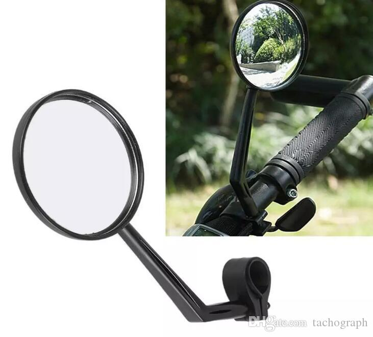 Adjustable Motorcycle Bicycle Handlebar End Glass Flexible Wide Angle Bike Rotatable Mirrors Rearview Reflective Cycling Kit