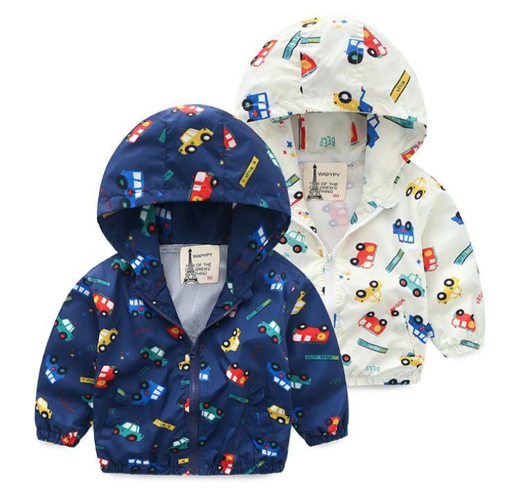 da33270ae6de 2019 Spring Autumn Hooded Jackets Children Car Coat Kids Jacket Boys ...
