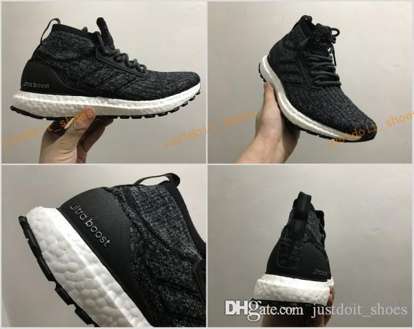 e1202cdd22a77 2017 ULTRA BOOST ATR MID OREO S82036 Core Black Core Black FTWR White Mens  Size 39 46.5 Top Quality Real Boost Shoes Wholesale Good Running Shoes  Skechers ...