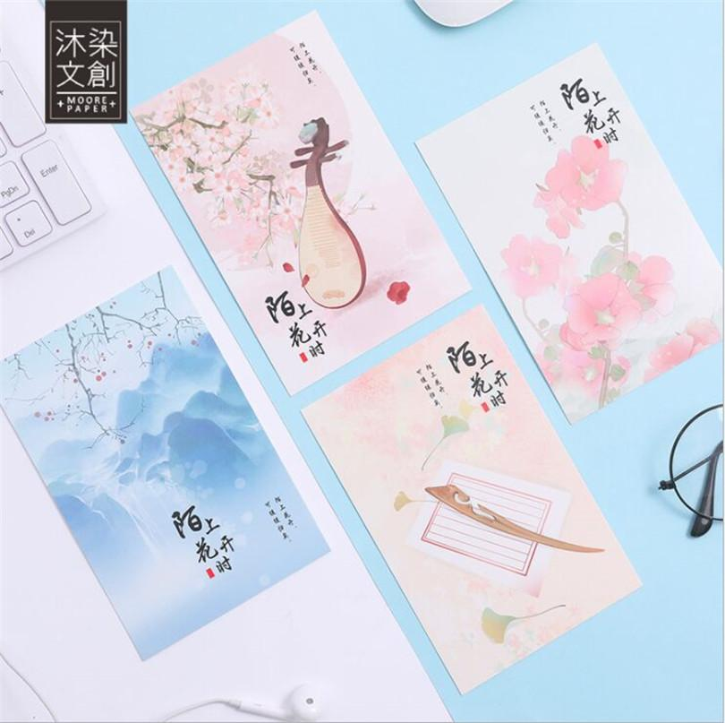 2019 Pack Classic Landscapes Greeting Card Postcard Birthday Gift Set Message Letter Envelope From Newcute 2527