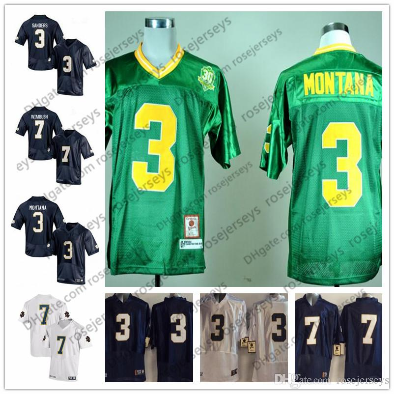 cheap for discount d9c18 10c0d good notre dame fighting irish 3 joe montana green throwback ...