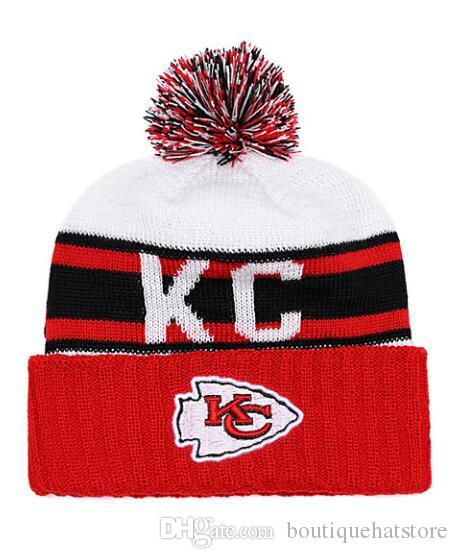 High Quality Men S Kansas City KC Cuffed Pom Beanie Hats Knitted SF Beanie  Wool Warm Baseball Cap Hat Women Bonnet Beanies Knit Hat UK 2019 From ... 6130c442bb4