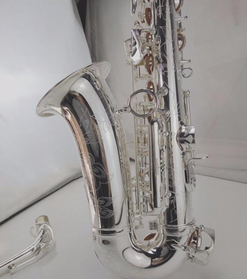Nouvelle marque Instruments Yanagisawa Alto Argent Plaqué Saxophone Eb Tune Instrument à vent Sax avec et cas Embouchure Livraison gratuite