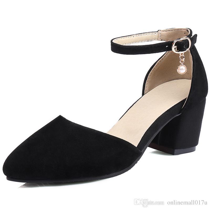 6020551ffa502 2018 Hot Sale Sandals Women Pumps Spring Summer Simple Buckle ...