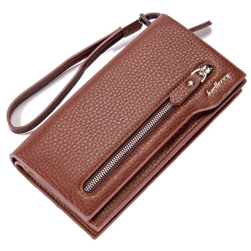 5c1fdc701cd7 New Fashion Long Wallet PU Leather Men Wallets Multifunctional Card ...
