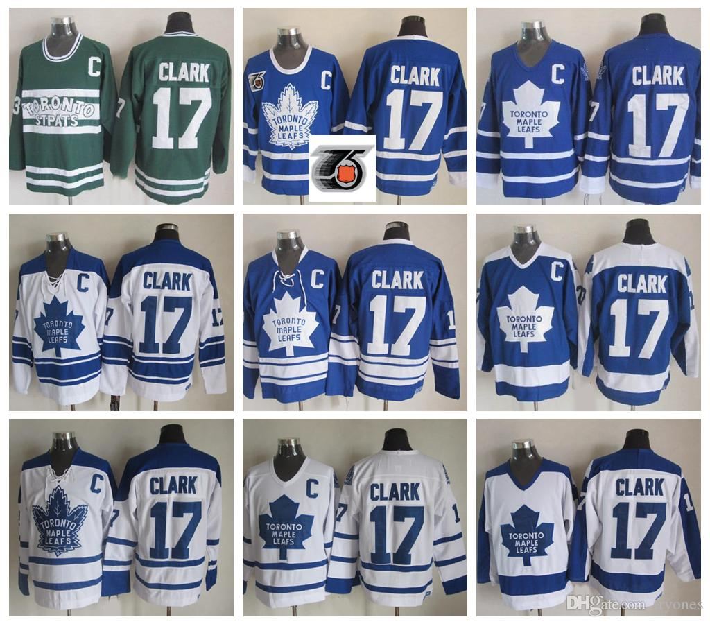 2019 Mens Toronto Maple Leafs Vintage Wendel Clark Hockey Jerseys Cheap  17  Wendel Clark Stitched Shirts 75th Anniversary C Patch M XXXL From Tryones fcef9418a