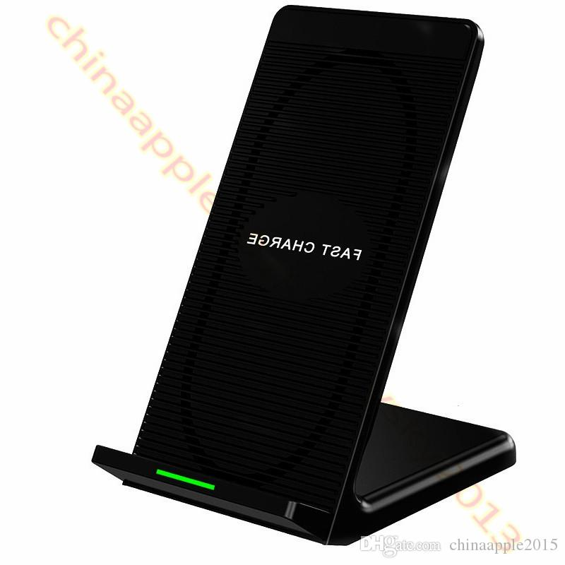 Schnelles schnelles drahtloses Ladegerät Qi 5v 2A 9V 1.67A Schnelles ladendes drahtloses Auflage für iphone 7 8 x Samsung s6 s7 Rand s8 s9 Anmerkung 8 android Telefon