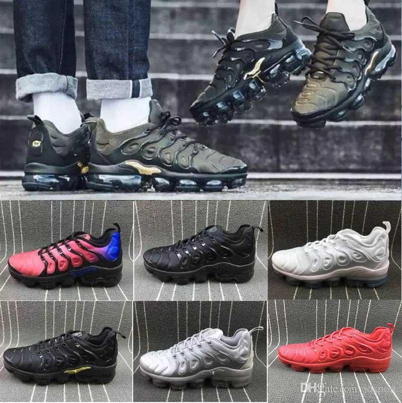collections online [With Box] Vapormax TN Plus VM Olive In Metallic White Silver Colorways Men Shoes For Running Male Shoe Pack Triple Black Mens Shoes buy cheap really 24qFyB8A