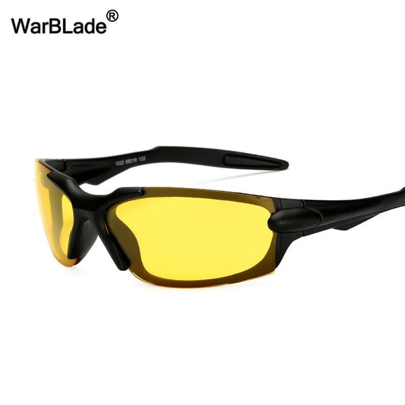 a068aa909c Compre WarBLade Night Vision Gafas De Sol HD Gafas De Sol Polarizadas Para  Gafas De Conducción Antideslumbrante Lente Amarilla Gafas De Sol Para  Hombres ...