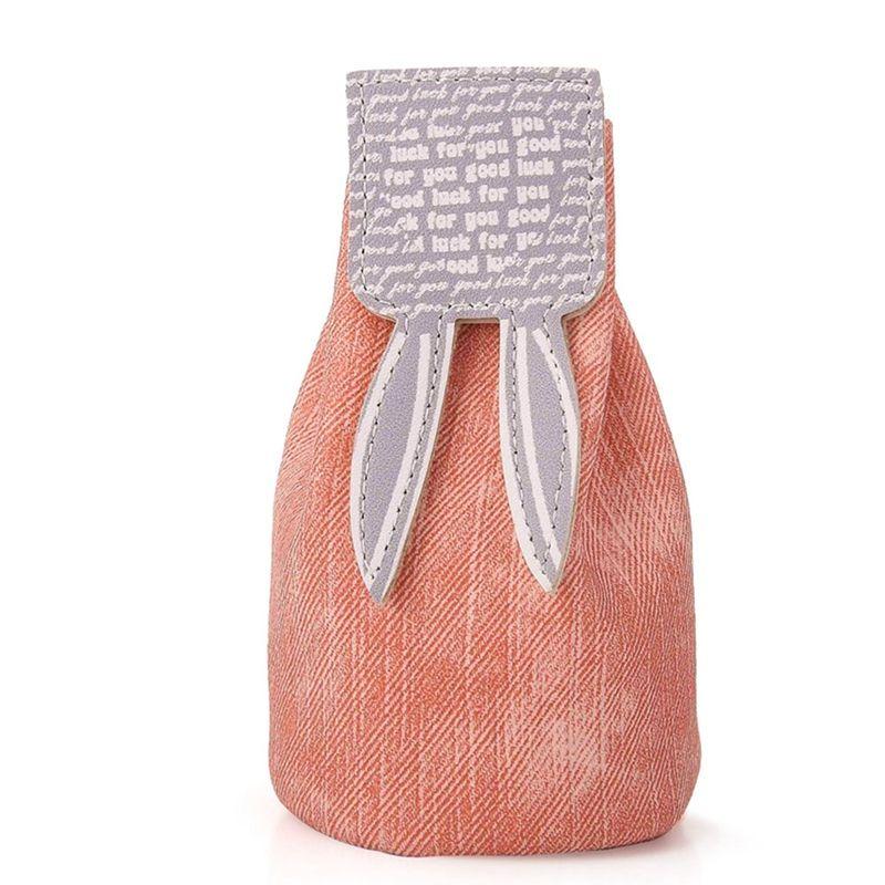 Cute Girl Small Rabbit Coin Purse Women Draw String Mini Bucket Bag