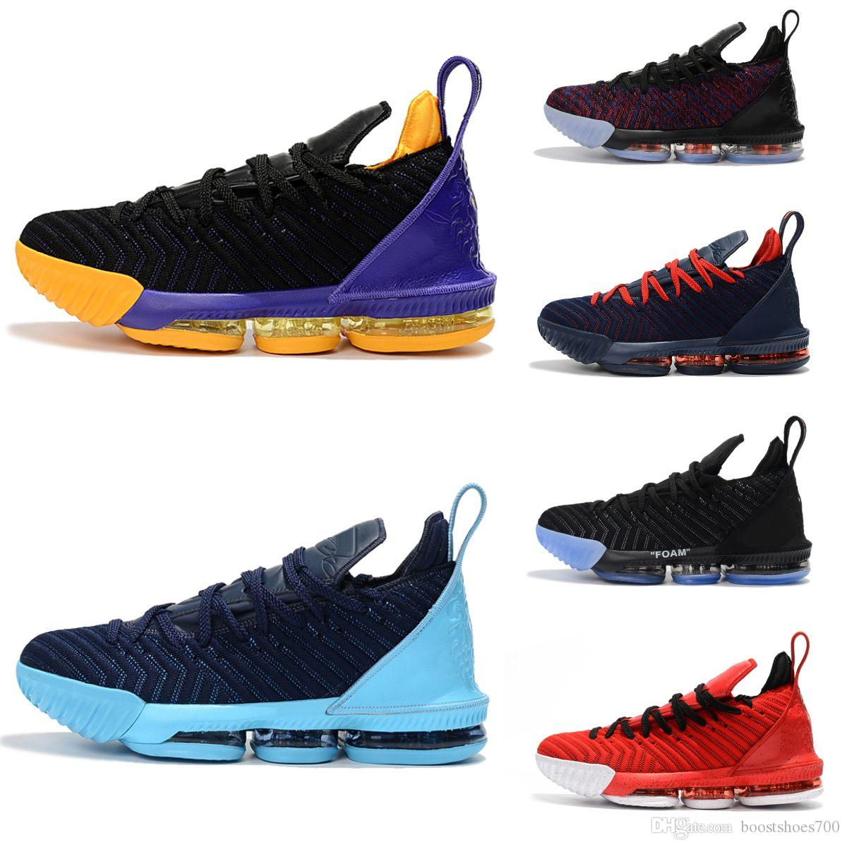 pretty nice dc8d2 5d50b HQ Mens 16 Basketball Shoes 16s Advanced Knit Gold Black Dark Grey Blue Mens  Sneakers Fashion 15 Basketball Tranning Boots Size 40 46 Sports Shoes  Online ...