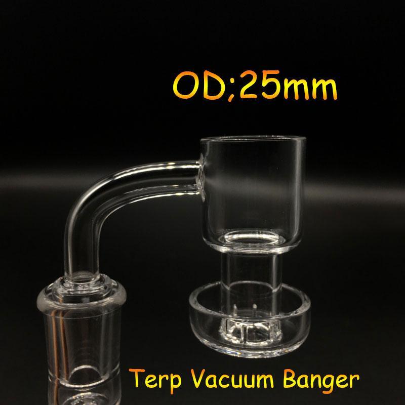 Beracky new Quartz Terp Vacuum Banger Domeless Terp Slurper Up Oil Banger Nail with 25mm Bucket 30mm Bottom for Glass Bong Oil Rigs
