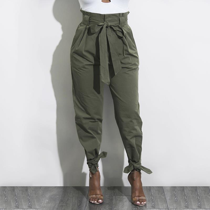 Compre Pantalones Harem De Cintura Alta Mujeres Spring Stringy Casual Pantalones  Largos Sólidos Para Oficina Pantalones Femeninos Streetwear WS4769O A ... 828f24708626