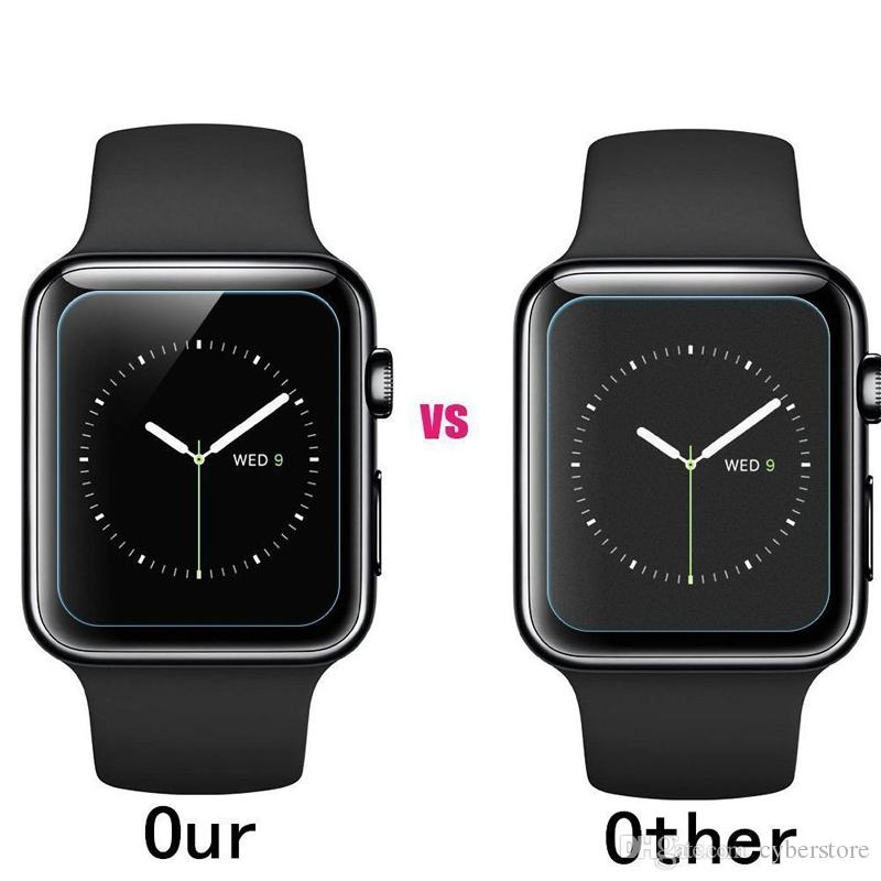 Für Apple Watch iWatch 0.2mm 2.5D 9H gehärtetes Glas 44MM 38MM Displayschutzfolie LCD mit Retal-Paket