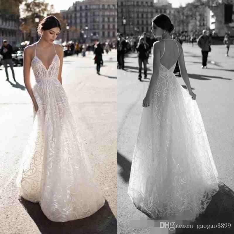 2018 Gali Karten Sexy Cheap Wedding Dresses Bridal Gowns Halter